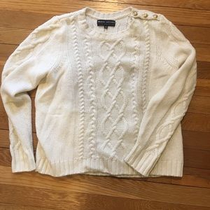 Madewell et Sezane cableknit sweater